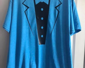 Tuxedo Tee Shirt, Groom Shirt, Bridal Party Tee Shirt, Bachelor Party Tee Shirt