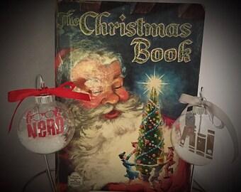 Book Nerd  Floating Ornament Set
