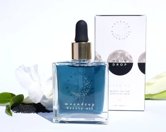 MOONDROP FACIAL OIL | Blue Tansy| Rose | Sandalwood | Turmeric | Squalane | 100% plant-based | Lightweight| Fast-absorbing| Sensitive skin