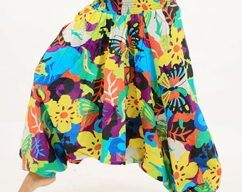 Cool jumpsuit harem pants floral printed trousers