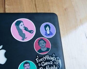 LANA DEL REY inspired sticker, glossy, waterproof, laptop, alternative, indie , pop culture.