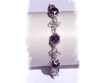 BRACELET in AMETHYST, stone jewelry