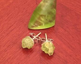 Peridot Crystal Stud Earrings