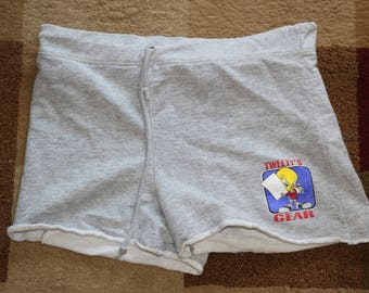 Vintage 1998 Gray Looney Tunes Cloth Shorts - - Size Small