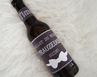 Beer label best man gift groomsman beer best man