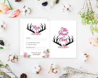 The Hunt is Over Wedding RSVP's