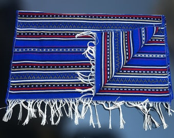 Woven Tablecloth   Original Traditional Greek   16x40 Inch Plus Fringe
