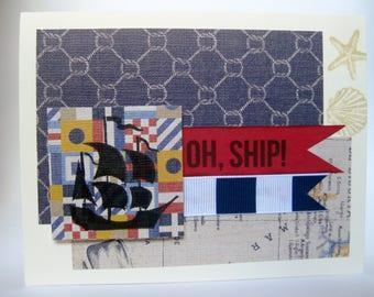 Oh Ship! Cancer Card