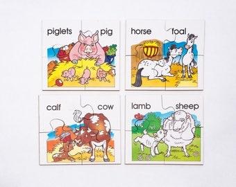 Wooden Farm Animal Jigsaw Puzzle