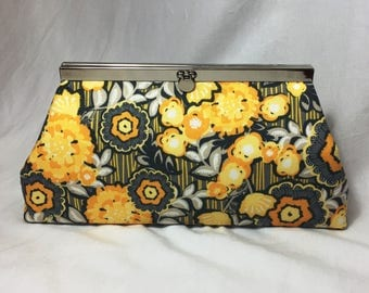 Gray & Yellow Clutch