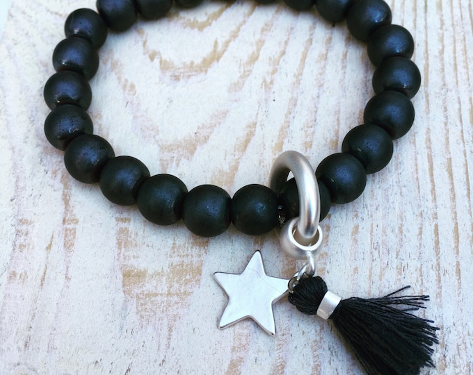 Free shipping within NL bracelet bracelet natural stone gemstone Black Onyx