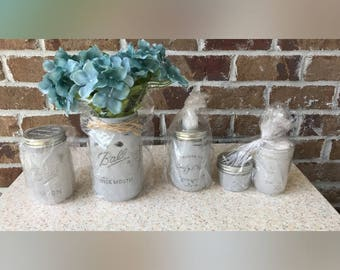 Mason Jar Bathroom Accessories