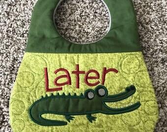 Later Gator Baby bib