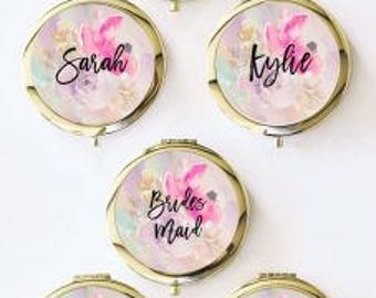 6 Watercolor compact mirror