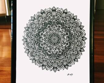 Mandala wall art- Mandala print- Wall decor