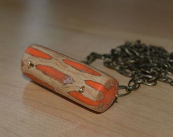 new mexico dried cholla pendant