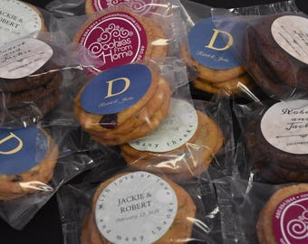 WEDDING COOKIE PACKS Personalized Party Wedding Birthday Anniversary Favor Treats