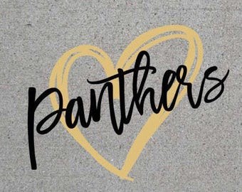 Panthers Heart SVG/DXF/PNG