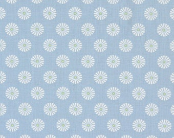 BLUE CIRCLES GUTTERMAN WHITE PATTERNED FABRIC