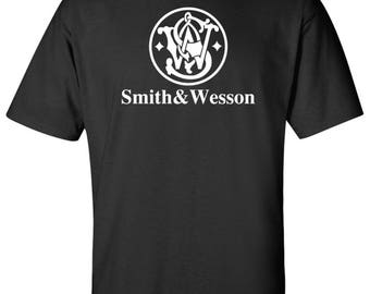 Smith and Wesson Logo  T Shirt Sz: S-2XL