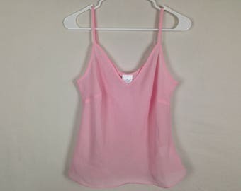 Baby pink see through top size M