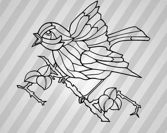 Bird Silhouette - Svg Dxf Eps Silhouette Rld RDWorks Pdf Png AI Files Digital Cut Vector File Svg File Cricut Laser Cut