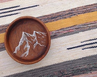 Hand-Painted Wooden Catch All Dish