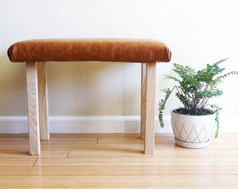 Vegan Leather Bench | Simplistic and Modern | Faux Leather