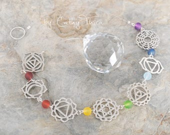 Sun Catcher * 7 chakras colorful *.