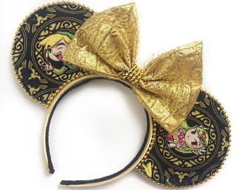 Zelda Inspired Mouse Ears | Video Game Mouse Ears | Geek Mouse Ears | Mouse Ears Headband | Mouse Ears