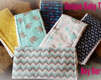 Boy Burp Cloths(Sold by sets ONLY)