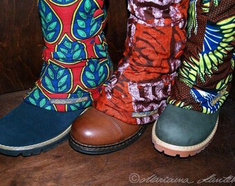 Gaiters in the Afrostil for the winter