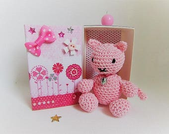 """""""Cate"""" - pink kitten in her box"""