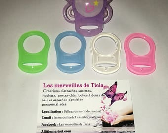 Silicone pacifier ring adapter type MAM.