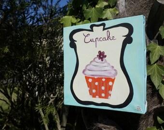 Painting is gourmet: ORANGE CUPCAKE