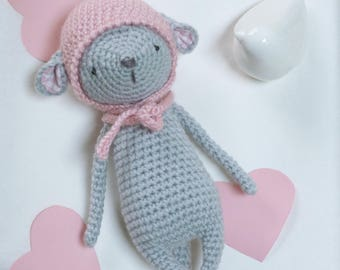 Little mouse hand crocheted