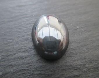 Hematite; 1 cabochon of 16.5 mm * 12.5 mm