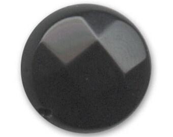 Black Onyx; 2 Pearl pucks of 12 mm