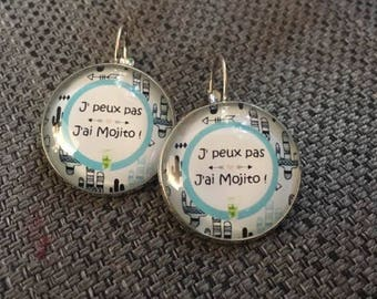 "Earrings ""I can't I mojito"""