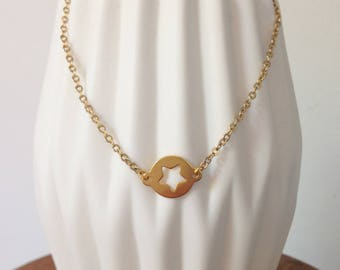 """Necklace """"Starlet"""" plated gold"""
