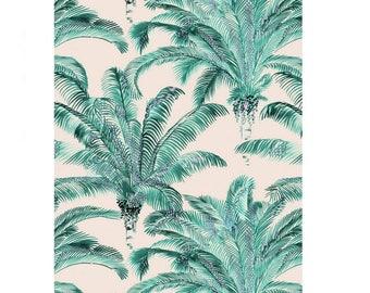 Fabric Palm Thévenon BAHIA 44 € 100% cotton 140 cm wide