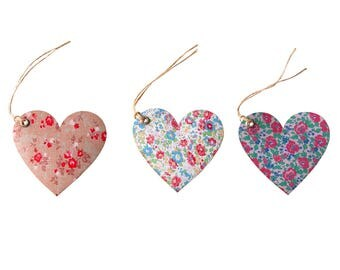 Tags, hearts, SET OF heart tags, gift