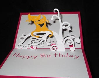 Cat 3D birthday card