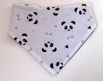 Panda pink Bandana bib