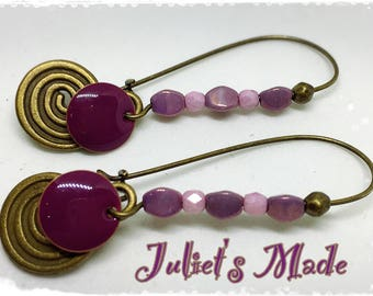 Earrings bronzes essential summer plum and lilac