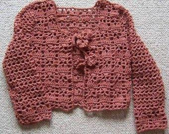 Acrylic and lurex Wool Cardigan for girl