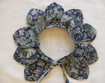 Detachable collar LIBERTY to choose (Elysian green) petals separated 12-18 months 2/3/4/6/8 years
