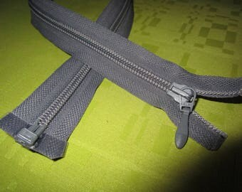 medium separable gray nylon zip