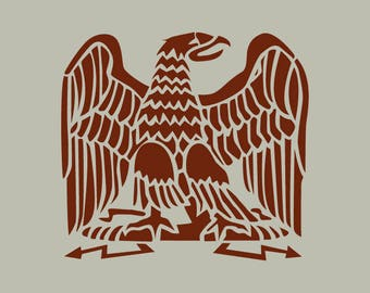 Eagle. Napoleon Eagle. Adhesive vinyl stencil. (ref 140)