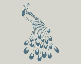 Peacock in adhesive vinyl stencil. (ref 778)